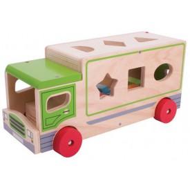 Bigjigs Toys dřevěné auto s tvary
