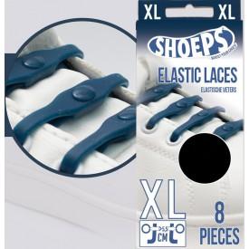 SHOEPS Silikonové tkaničky Navy Blue XL