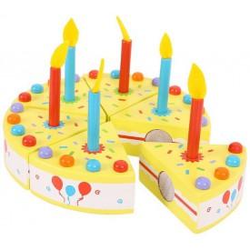 Bigjigs Toys dřevěné potraviny - Narozeninový dort