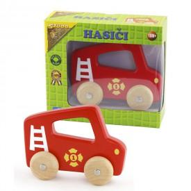 Dřevěné auto Hasiči na kolech