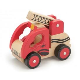 Dřevěný hasičský vůz