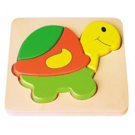 Dřevěné puzzle Želva