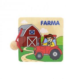 Dřevěná knížka Farma