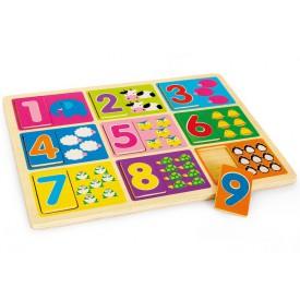 Dřevěné puzzle Učení čísel
