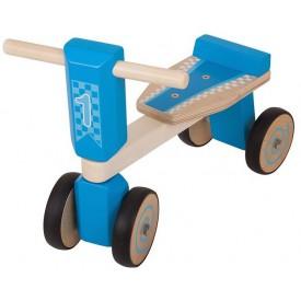 Bigjigs Toys dřevěné odrážedlo modrá tříkolka