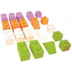 Bigjigs Toys dřevěné Spojkostky - Basic set