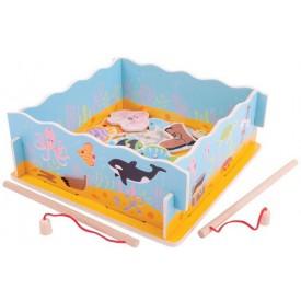 Bigjigs Toys dřevěná hra - Magnetické chytání rybiček