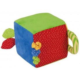 Bigjigs Toys textilní aktivní kostka