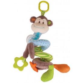 Bigjigs Toys textilní postavička - Spirála opička