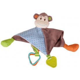 Bigjigs Toys textilní muchlánek - Opička