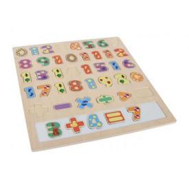 Dřevěné hračky - Velké puzzle Počítání