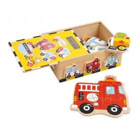 Dřevěné hračky -  Puzzle-Box Vozidla