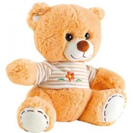 Plyšák Medvídek světle hnědý s tričkem