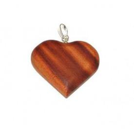 Dřevěné přívěšky - Srdce velké