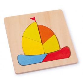Dřevěné hračky -  Vkládací puzzle - Loď