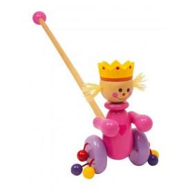 Tahací hračky - Jezdík růžová královna