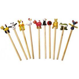 Dřevěné tužky - sada 10ks