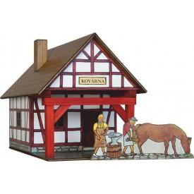 Dřevěná slepovací stavebnice Walachia Hrázděná kovárna