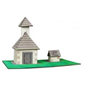 Dřevěná slepovací stavebnice Walachia Zvonice a studna
