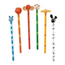 Dřevěná tužka postavičky Safari - 1ks