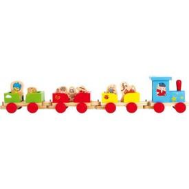 Dřevěné hračky - Dřevěný vláček Unser Sandmännchen