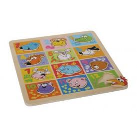 Dřevěné hračky - Puzzle Zvířata s čísly