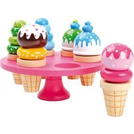 Dřevěné hračky - Zmrzlina v kornoutku