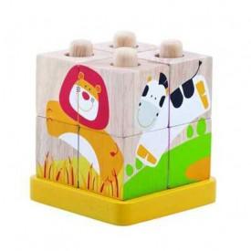 Dřevěné hračky - Kostka Safari