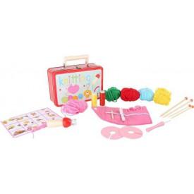 Hračky pro holky - Dětský kufr Pletací sada