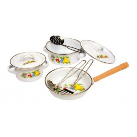 Dětské kovové nádobí s motivem ovoce - 8 kusů