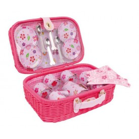 Piknikový kufřík květiny 21 dílů