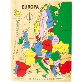 Vkládací puzzle Evropa