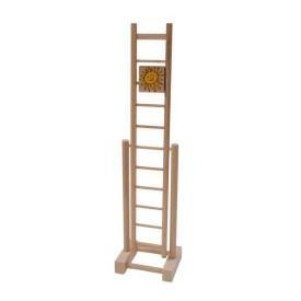 Dřevěné hračky - Dřevěný žebřík sluníčko