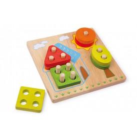 Dřevěná motorická hra - Domek