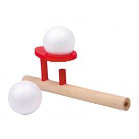 Dětské dřevěné hry - Dřevěná hra foukání do míčku