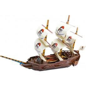 Třívrstvé pěnové 3D puzzle - 3D Pirátská loď Mořský svět