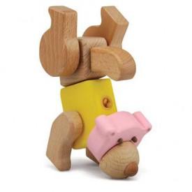 Dřevěné hračky - Hravá stavebnice Moje ZOO - Medvěd