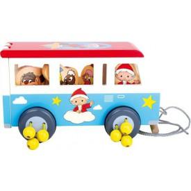 Dřevěné tahací hračky - Autobus Unser Sandmännchen