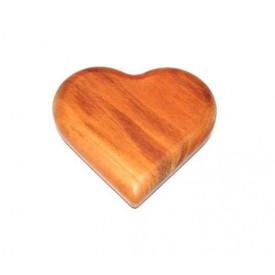 Dřevěná dekorace - hmatka - Srdce pro radost