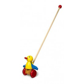 Tahací hračky - Jezdík žlutý pták s mávajícími křídly