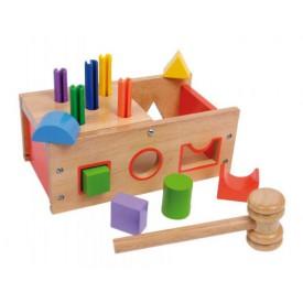 Dřevěné hračky - Motorické hračky - Multi krabička na hraní