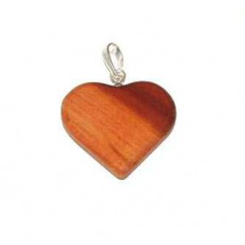 Dřevěné přívěšky - Srdce střední