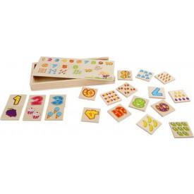 Dřevěné hračky - Pexeso čísla