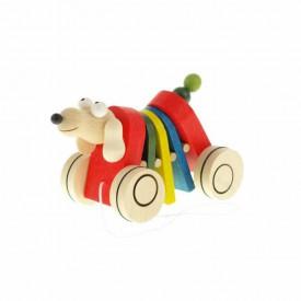 Dřevěná tahací hračka - Pes klapací