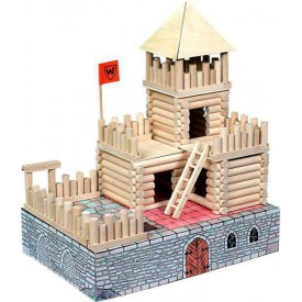 Dřevěná stavebnice Walachia Vario Fort 194 dílů