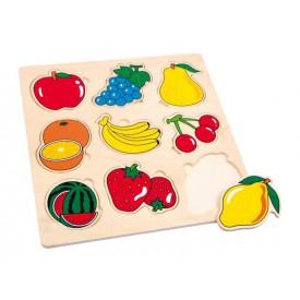Dřevěné hračky -  Vkládací puzzle - Puzzle ovoce