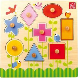 Dřevěná hračka - Puzzle Tvary
