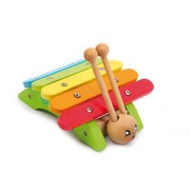 Dřevěné hračky - Dětské hudební nástroje - Xylofon šnek