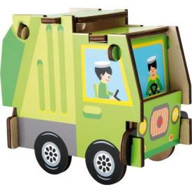 Jednoduchá dřevěná skládačka - Nákladní auto