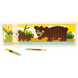 Legler Puzzle - Nauč se abecedu s medvědí rodinkou